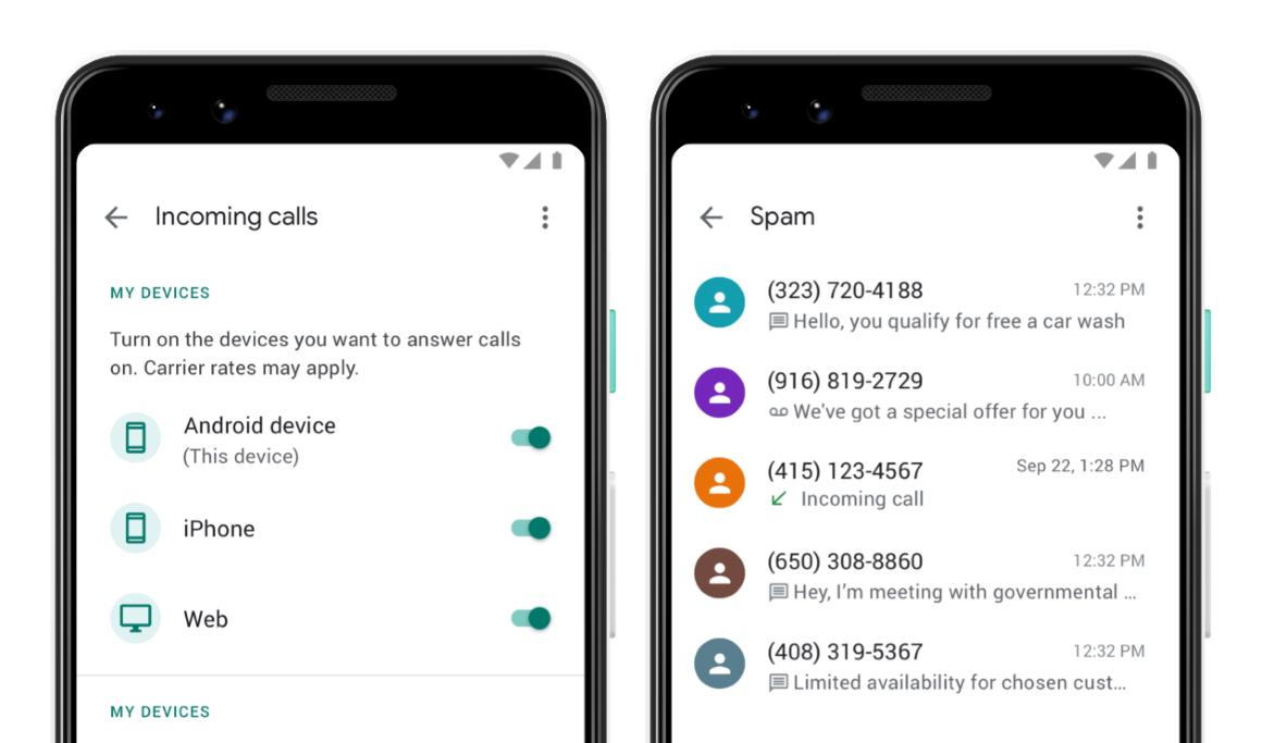 Google voice voicemails tekstberichten