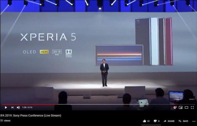 Sony Xperia 5 gelekt