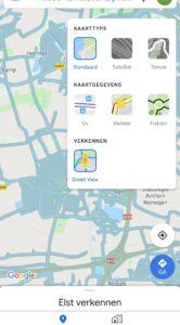google maps street view-laag