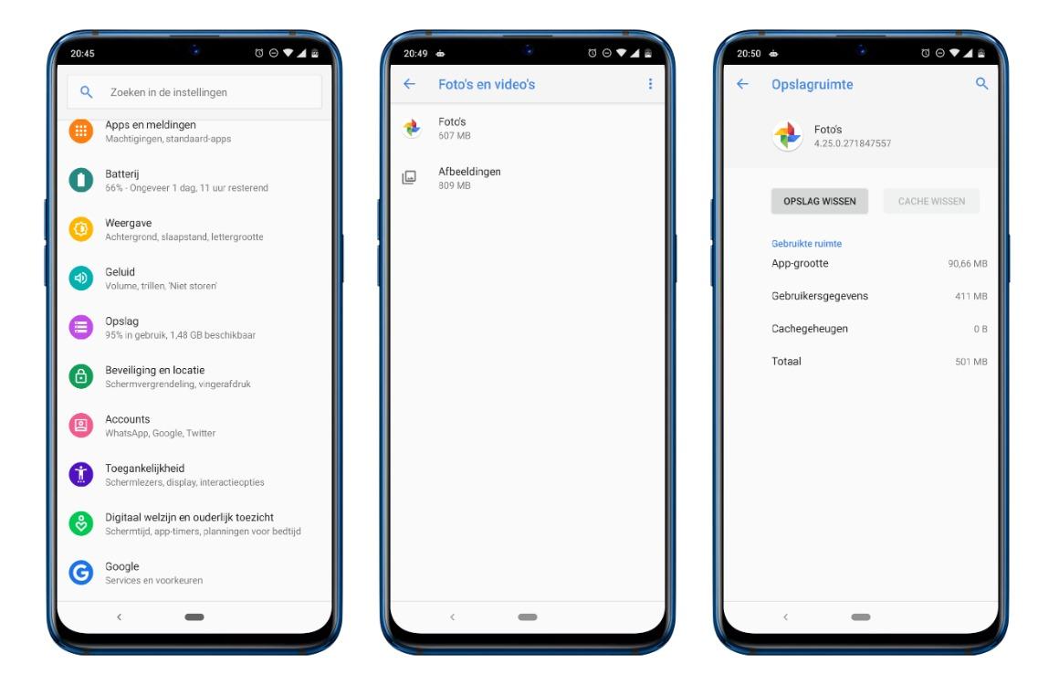 Cachegeheugen wissen android screens