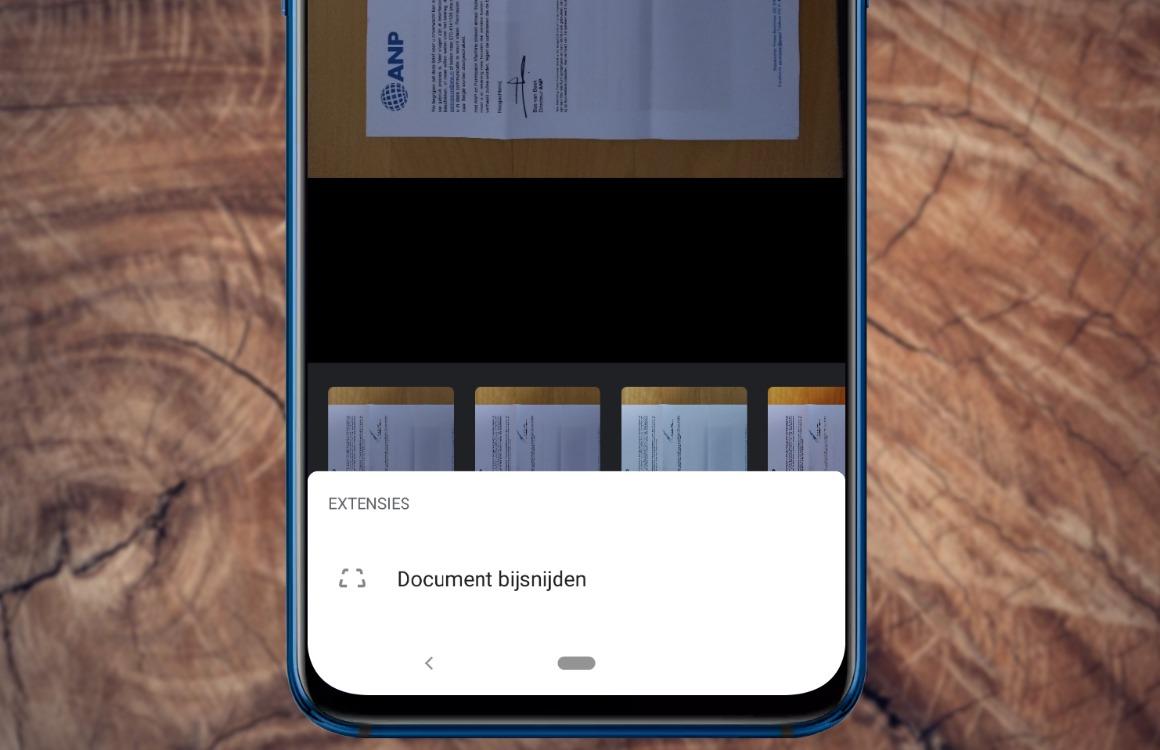Documenten bijsnijden Google Foto's uit