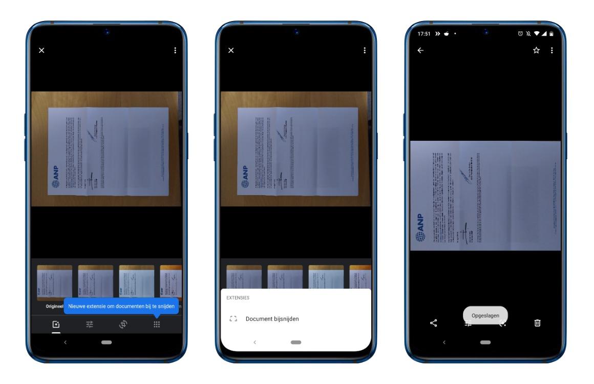 Documenten bijsnijden Google Foto's