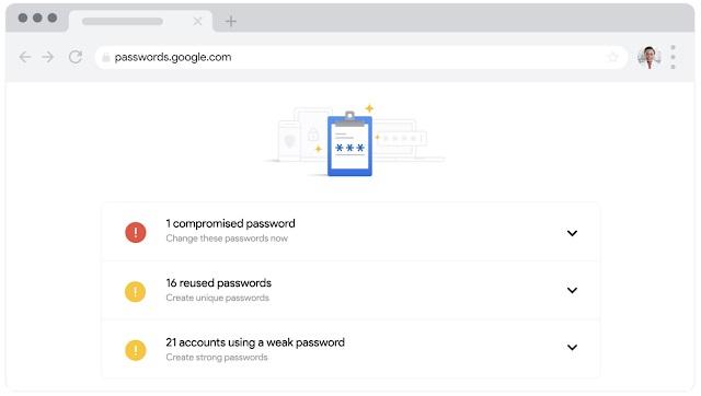 Google Chrome wachtwoorden