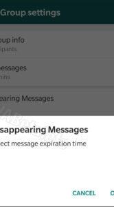 WhatsApp berichten verdwijnen