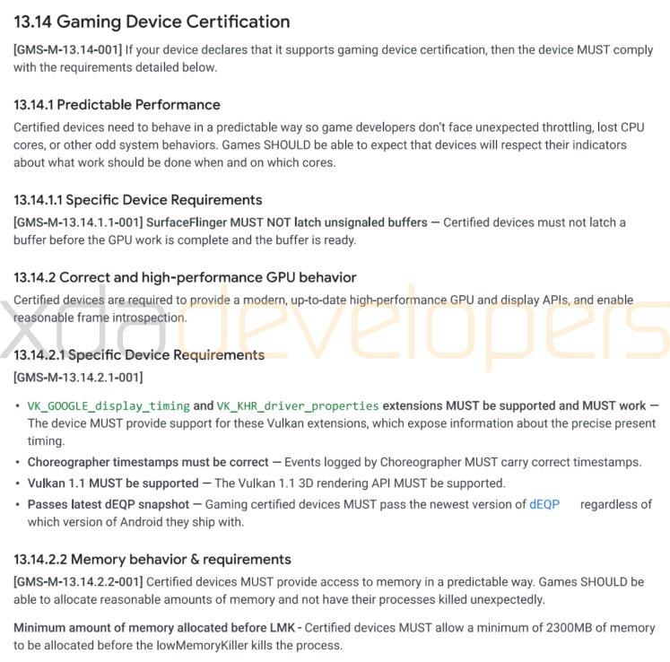 android keurmerk gaming smartphones