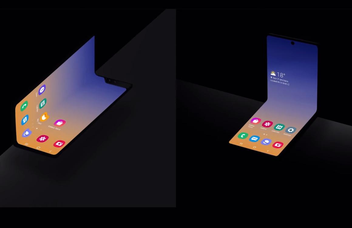 Samsung laat inklapbare Galaxy Fold-smartphone zien