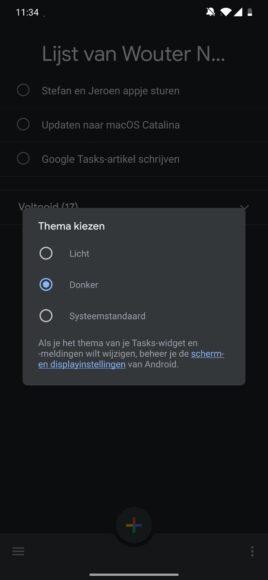 google tasks update
