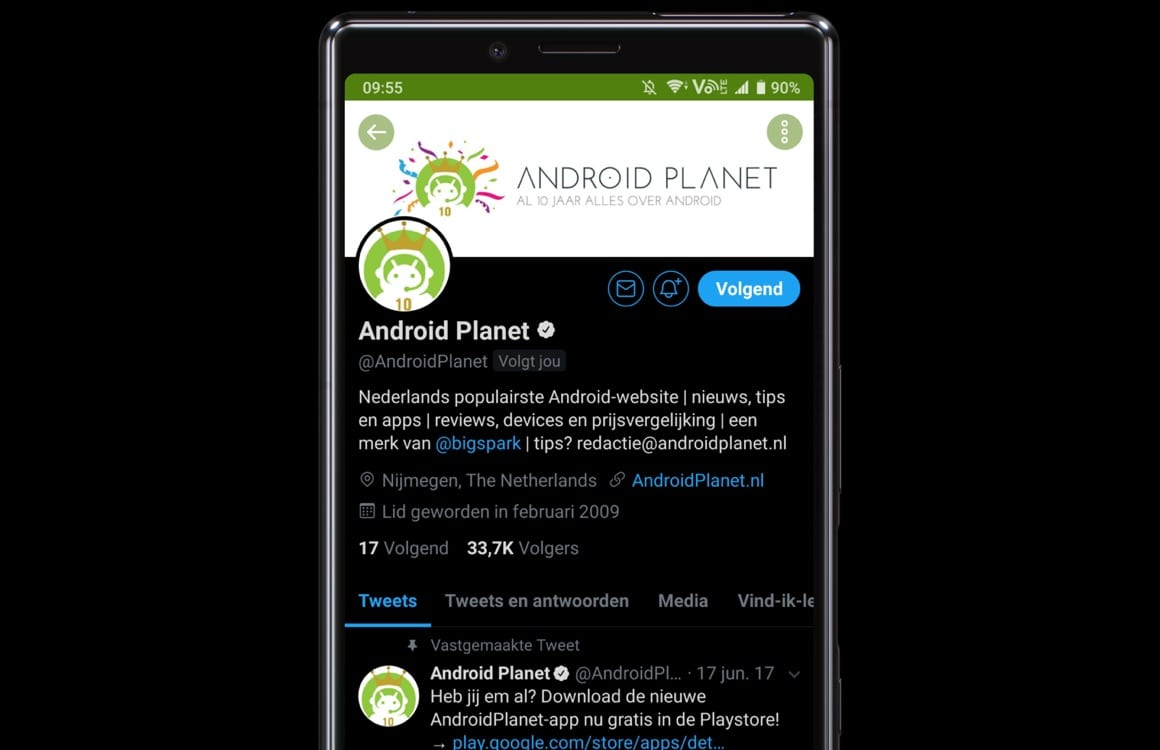 Download: Twitter-app heeft nu een échte donkere modus