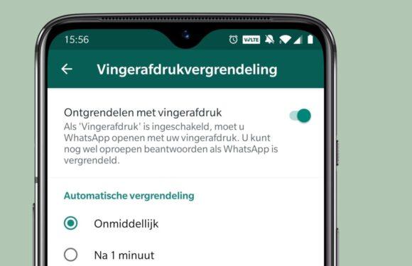 WhatsApp - vingerafdrukvergrendeling