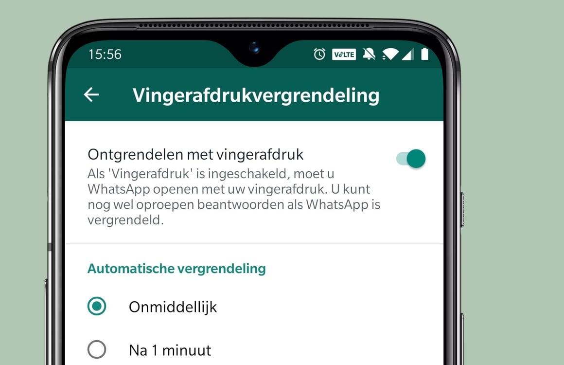 WhatsApp nu te beveiligen met je vingerafdruk: zo werkt het