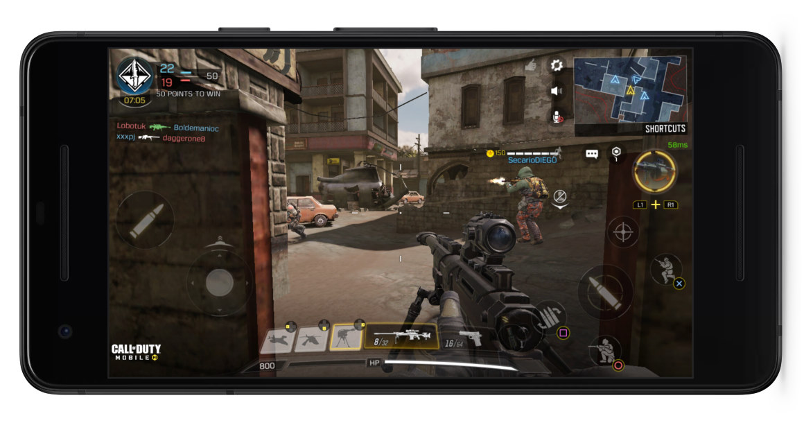 call of duty mobile controller gameplay