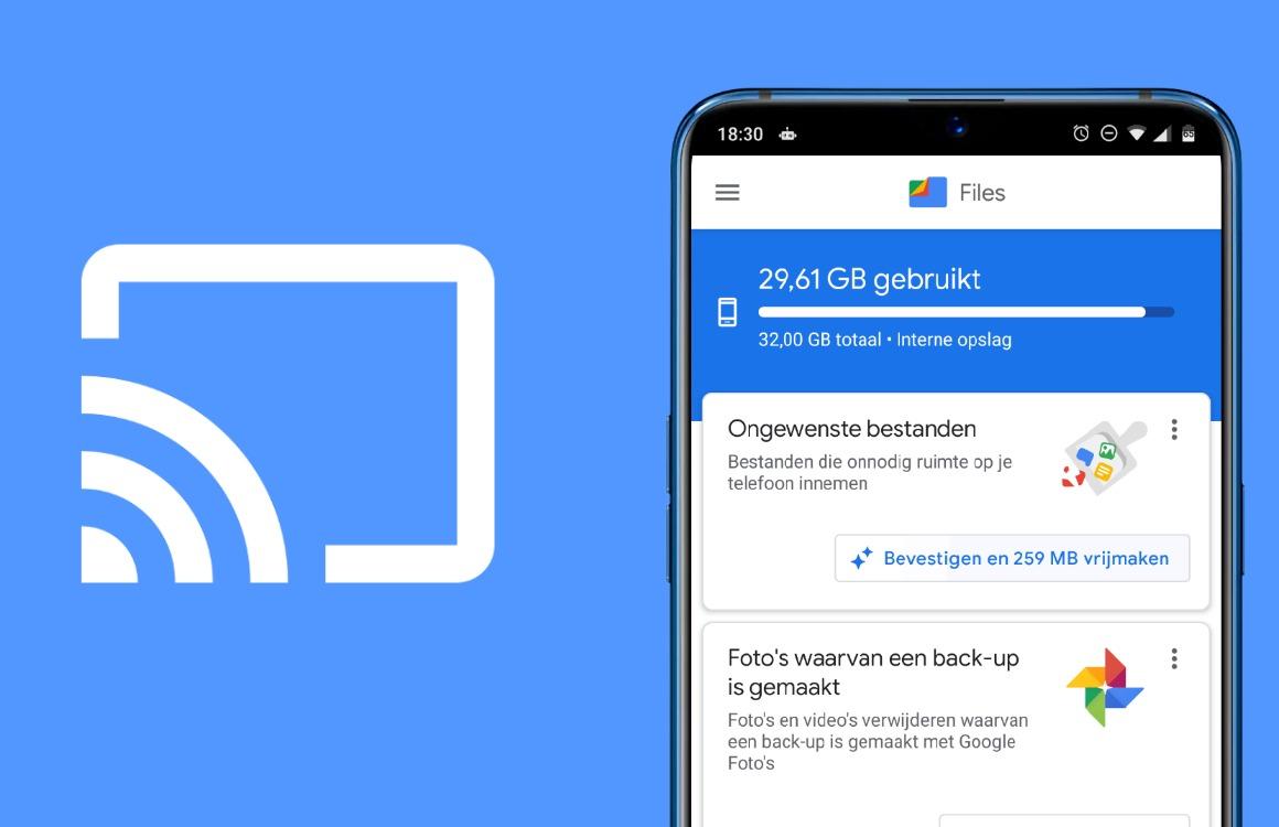 Tip: Files by Google-bestanden casten naar een Chromecast