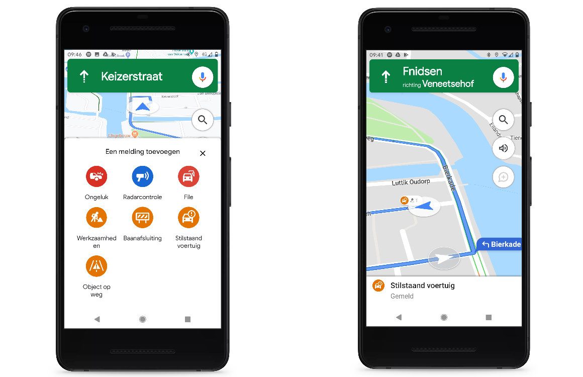 Files flitsers melden in Google Maps
