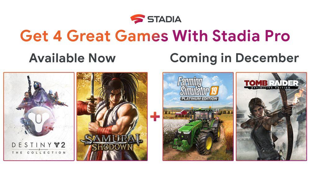Google Stadia - gratis games