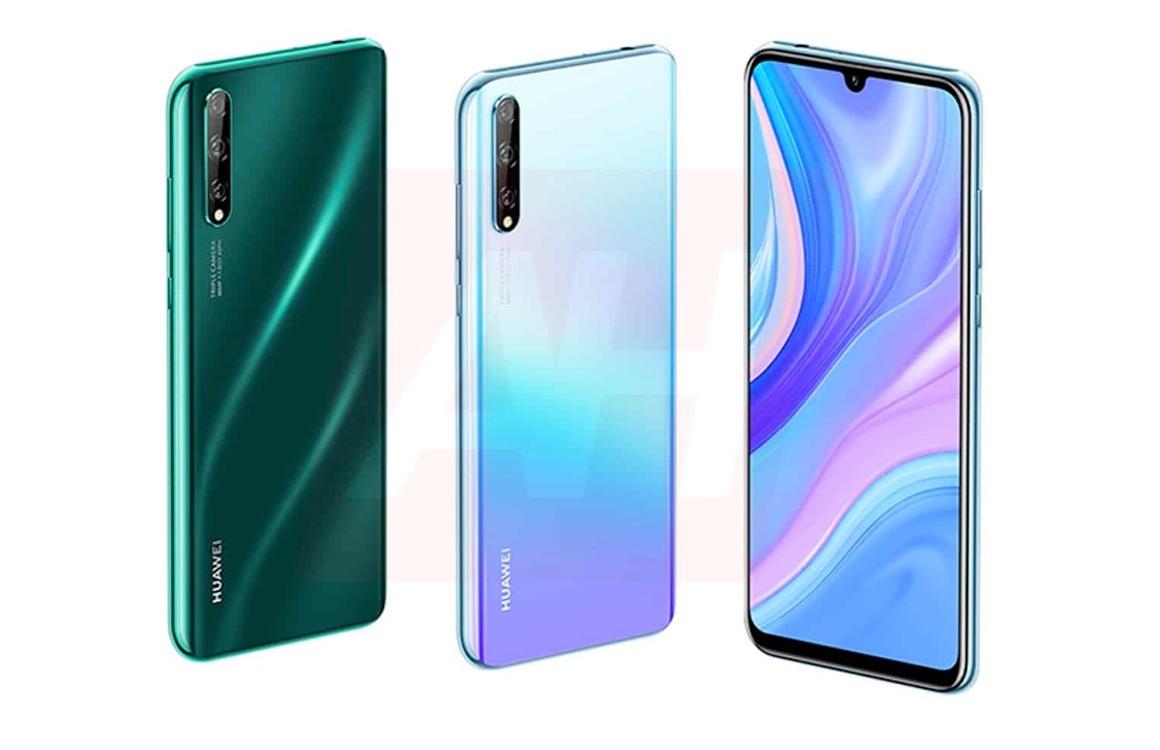 'Huawei P Smart (2020) gelekt in kleurrijke persrender'