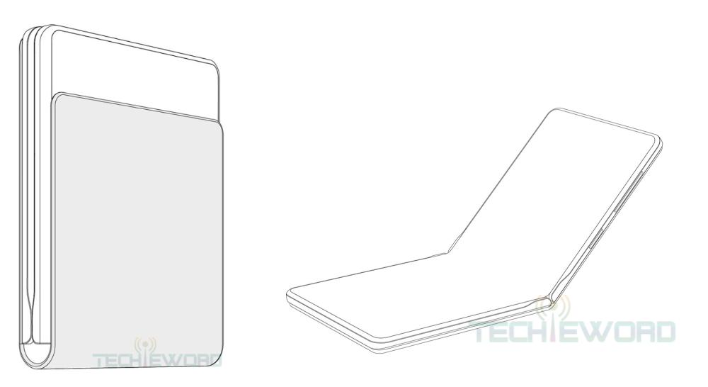 Huawei - patent - vouwbare smartphone