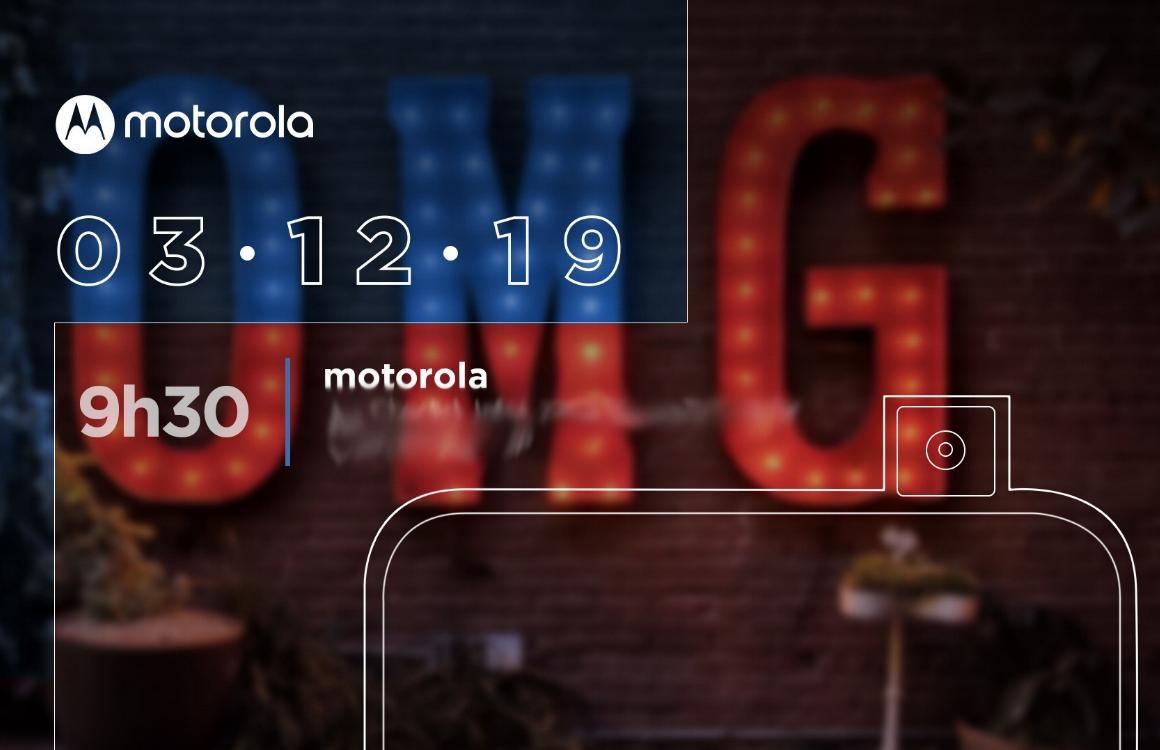 'Motorola presenteert smartphone met uitschuifbare selfiecamera op 3 december'