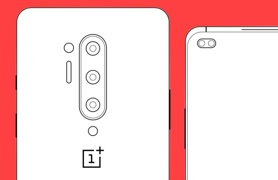 'OnePlus 8 Pro weer te zien in schematische tekeningen'
