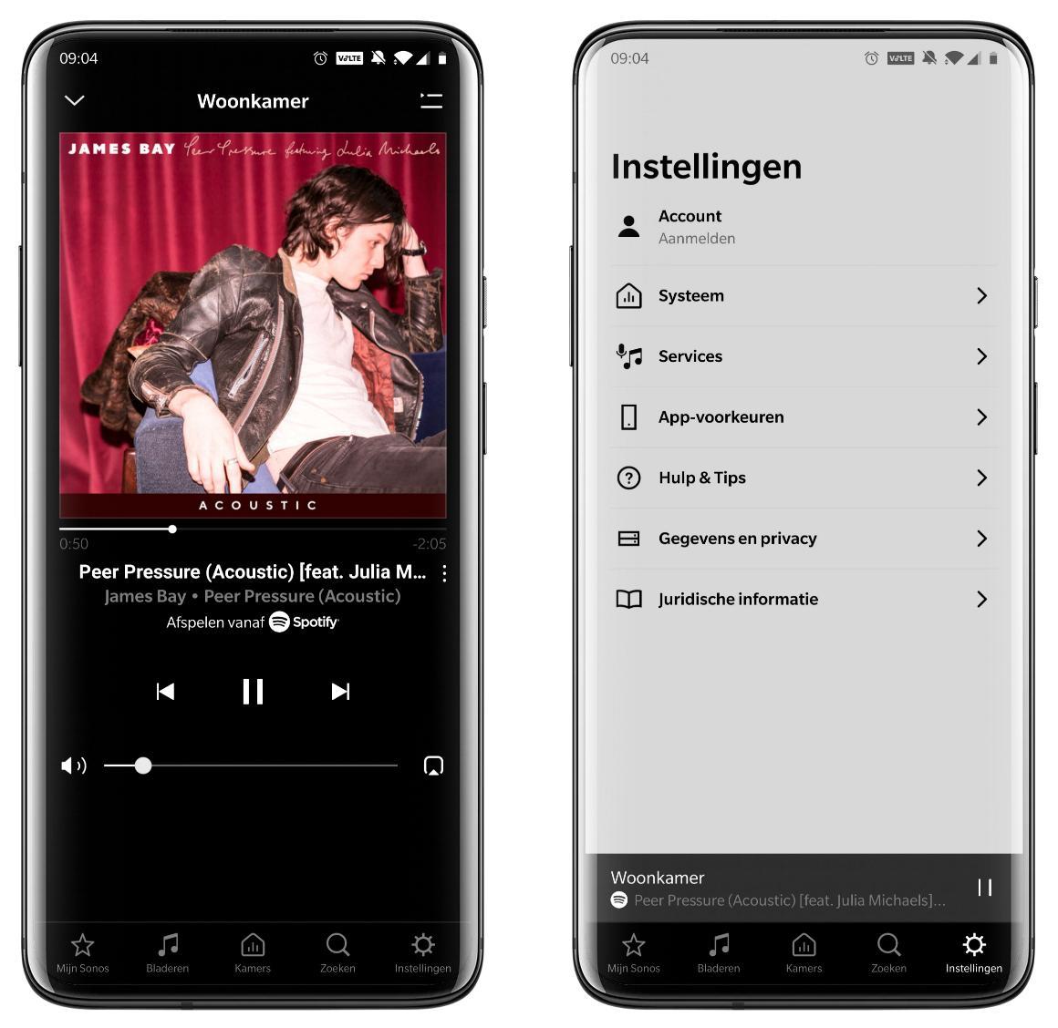 Spotify instellingen