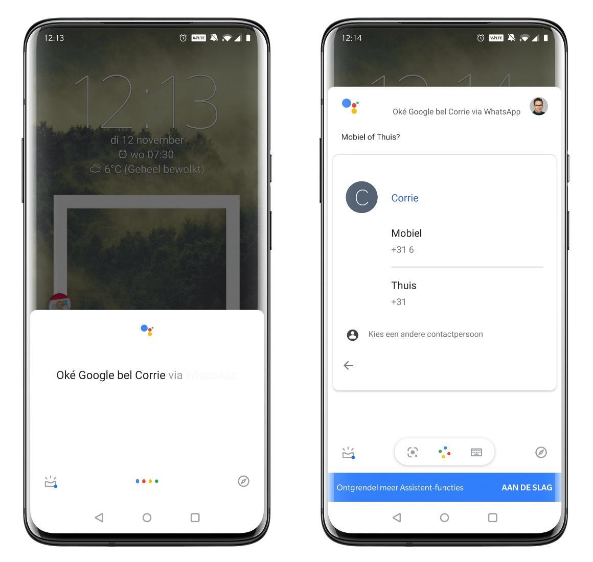 WhatsApp & Google Assistent