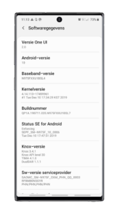 Samsung Galaxy Note 10 - Android 10