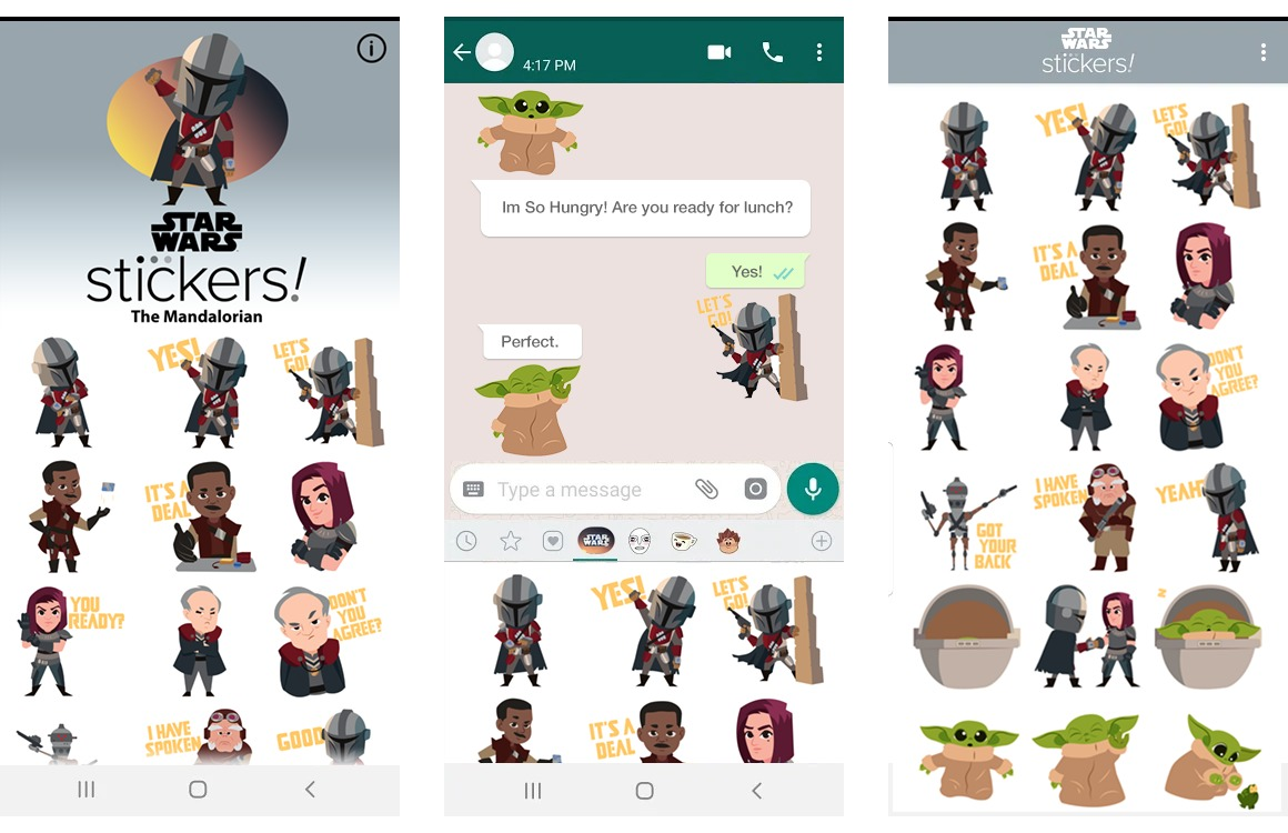 beste android apps week 52 the mandalorian stickers