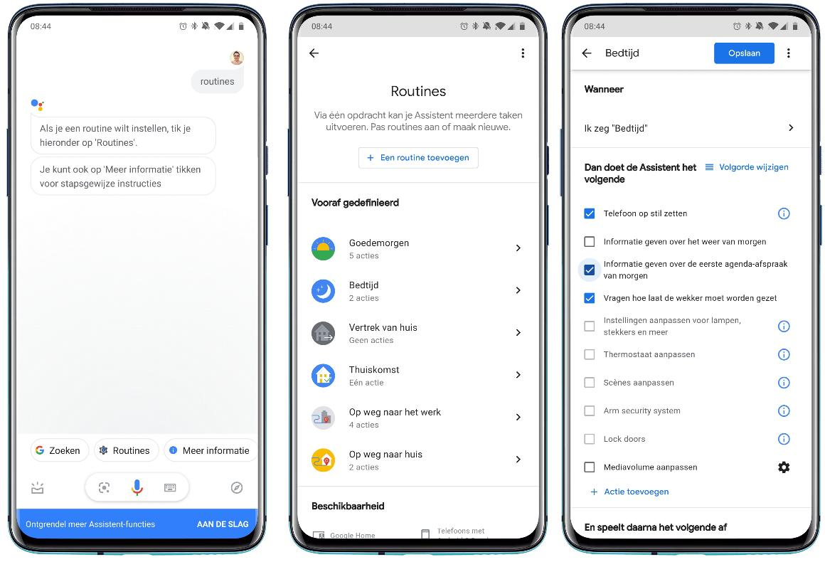 Google Assistent - routines