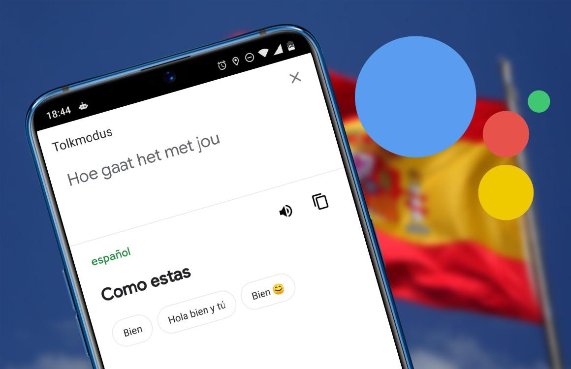 google assistent tolkmodus uitg