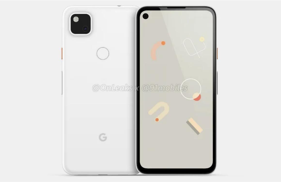 Renders: Google Pixel 4a krijgt vertrouwd design met enkele camera