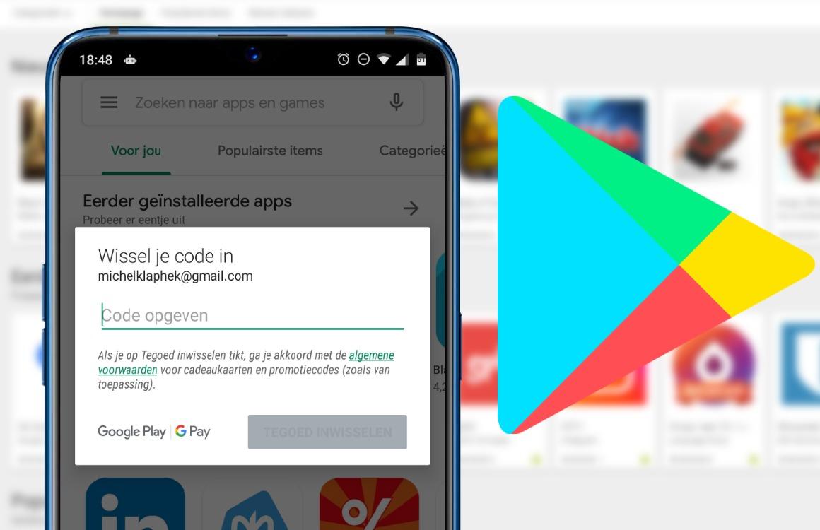 Met een tegoedbon betalen in Google Play: zo werkt het