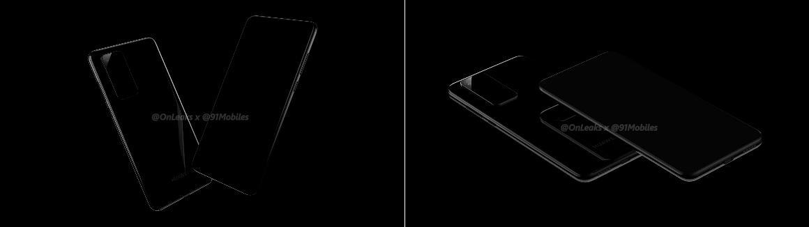 Huawei P40 Pro-renders
