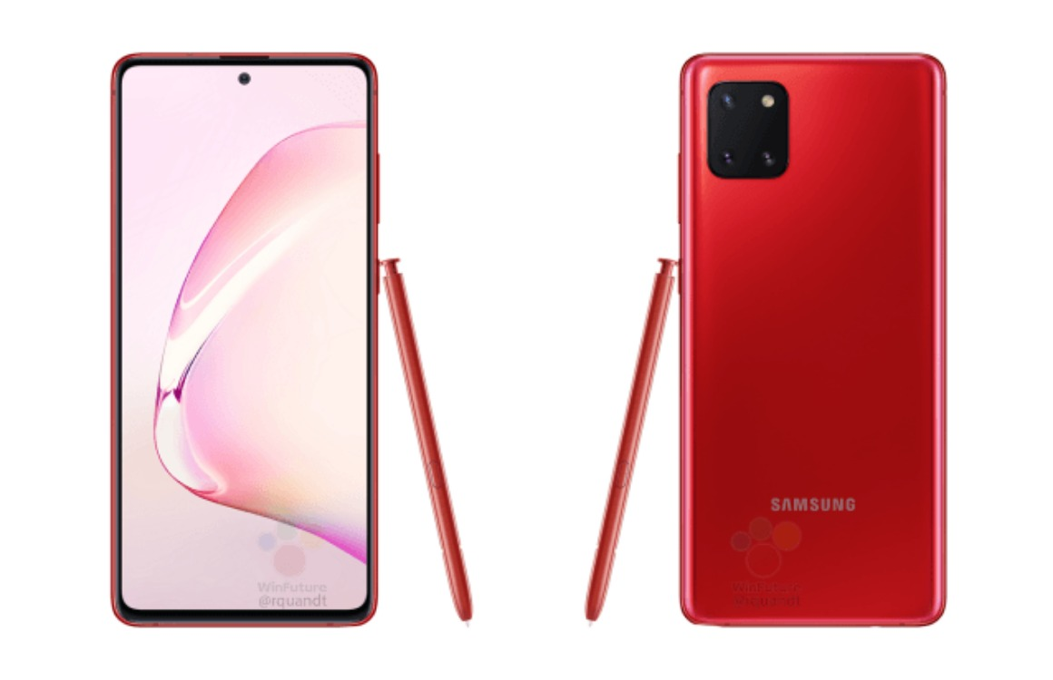 samsung galaxy note 10 lite renders 2