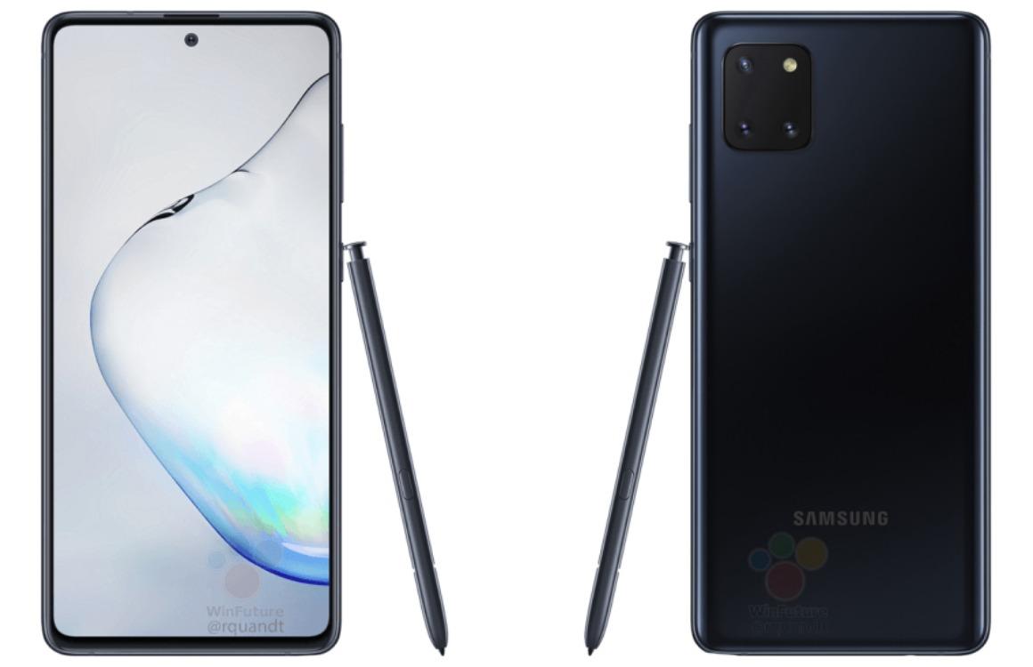 Renders: Samsung Galaxy Note 10 Lite krijgt herkenbaar design en hoofdtelefooningang