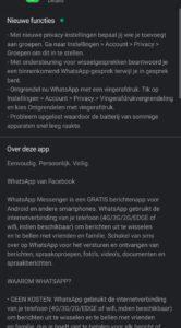 whatsapp wisselgesprek