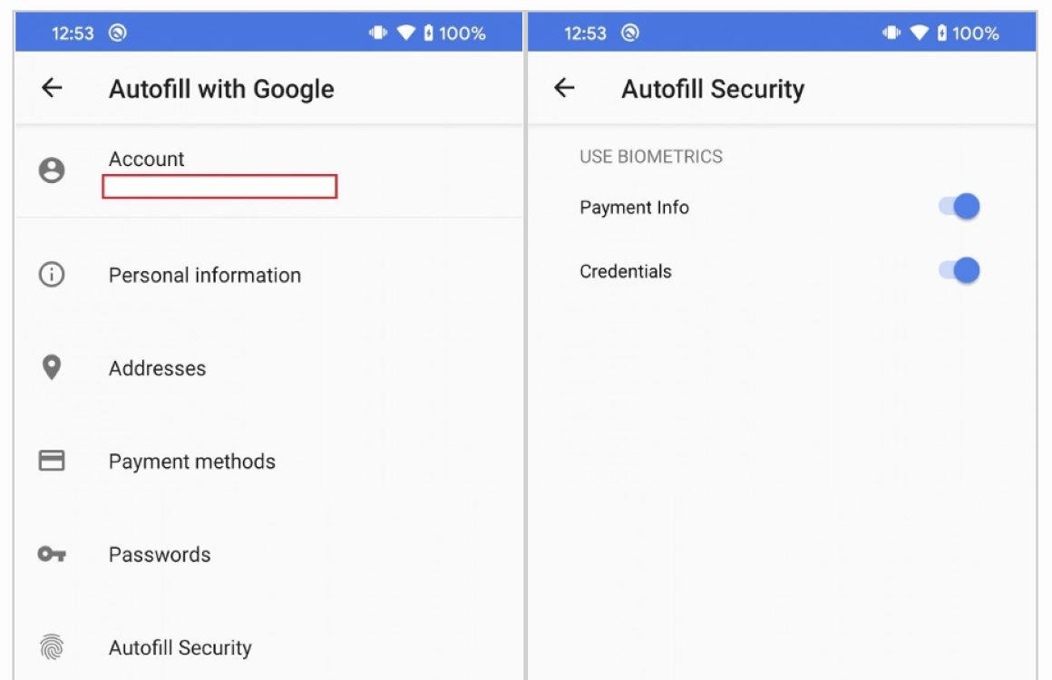 Android autofill beveiliging