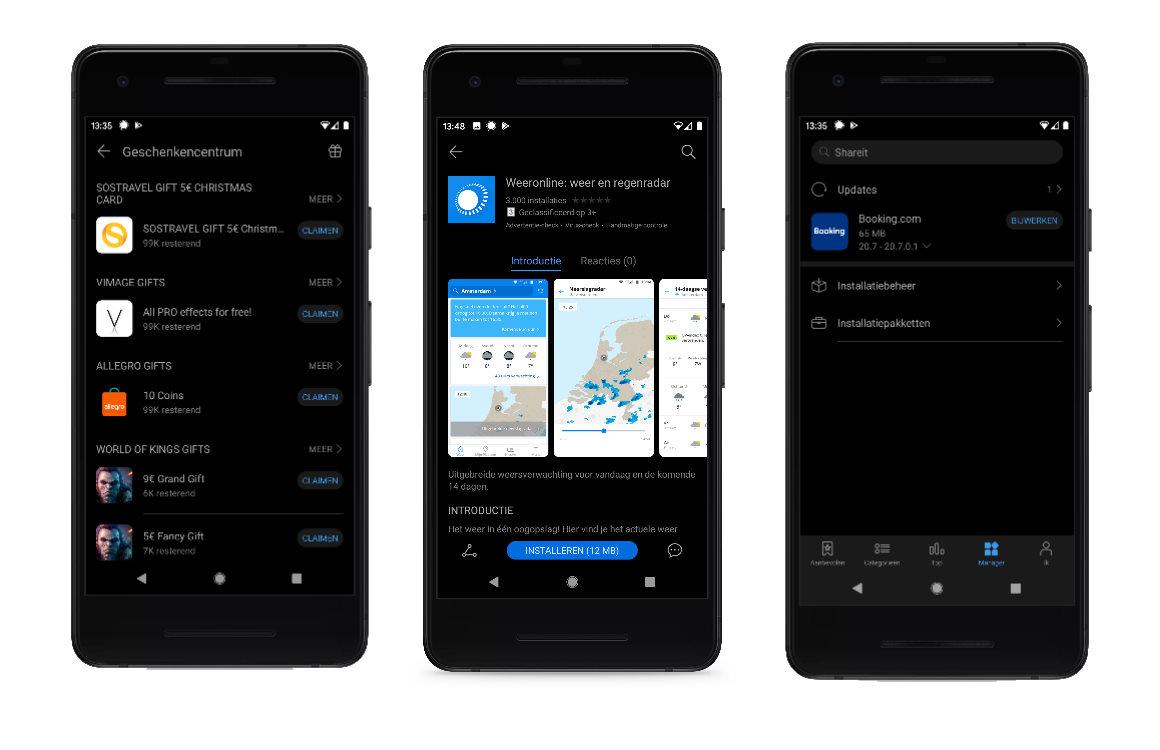 Huawei AppGallery screenshots