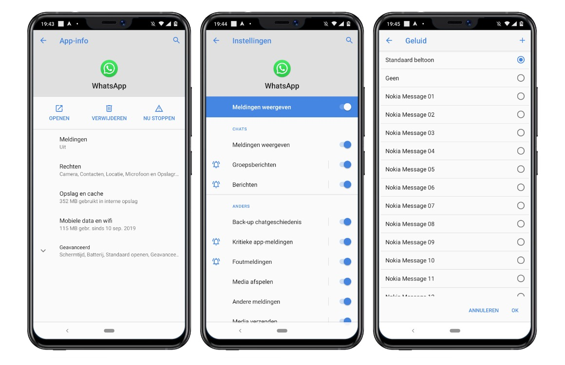 meldingsgeluid aanpassen in android apps