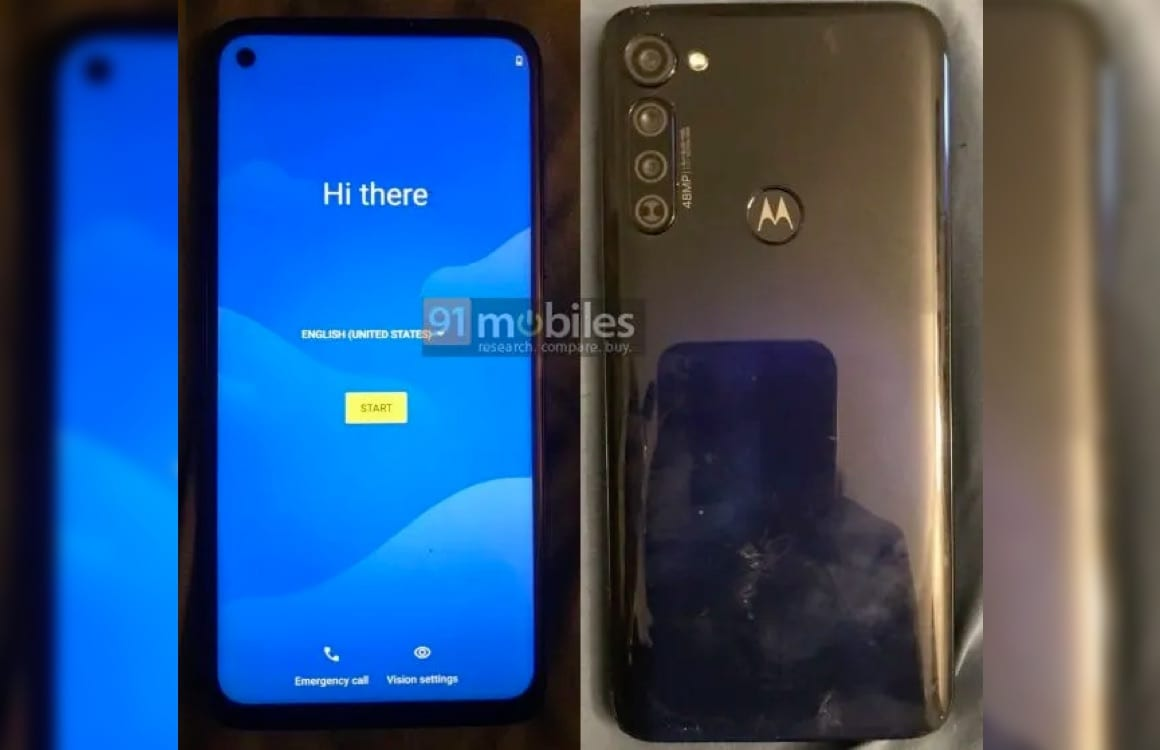 'Specificaties en foto's van Motorola Moto G Stylus liggen op straat'
