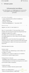 Samsung Galaxy Note 9 - Android 10-update Vodafone