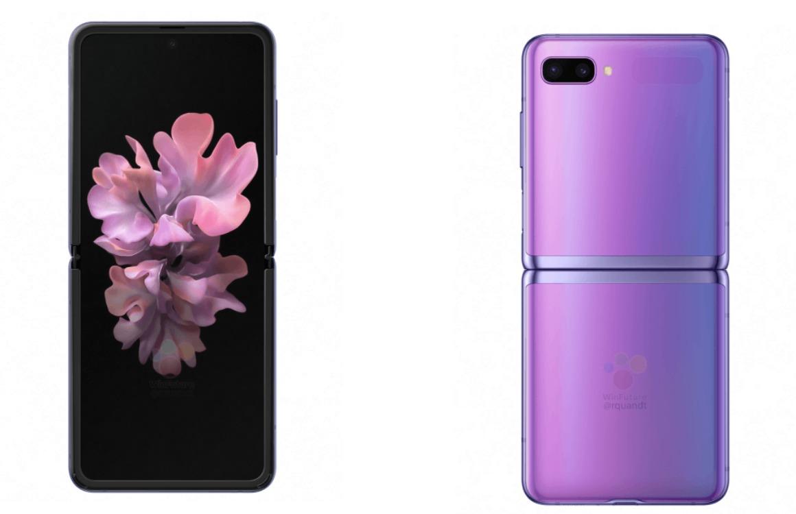 Renders: Zo ziet de opvouwbare Samsung Galaxy Z Flip eruit