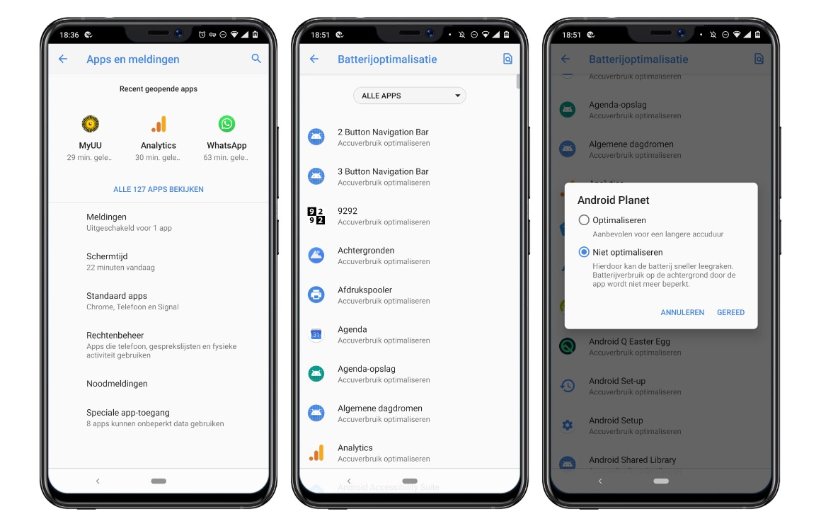 android apps slapen screens