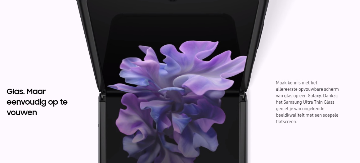 Samsung Galaxy Z Flip ultra thin glass krassen