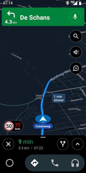 google maps snelheidslimieten