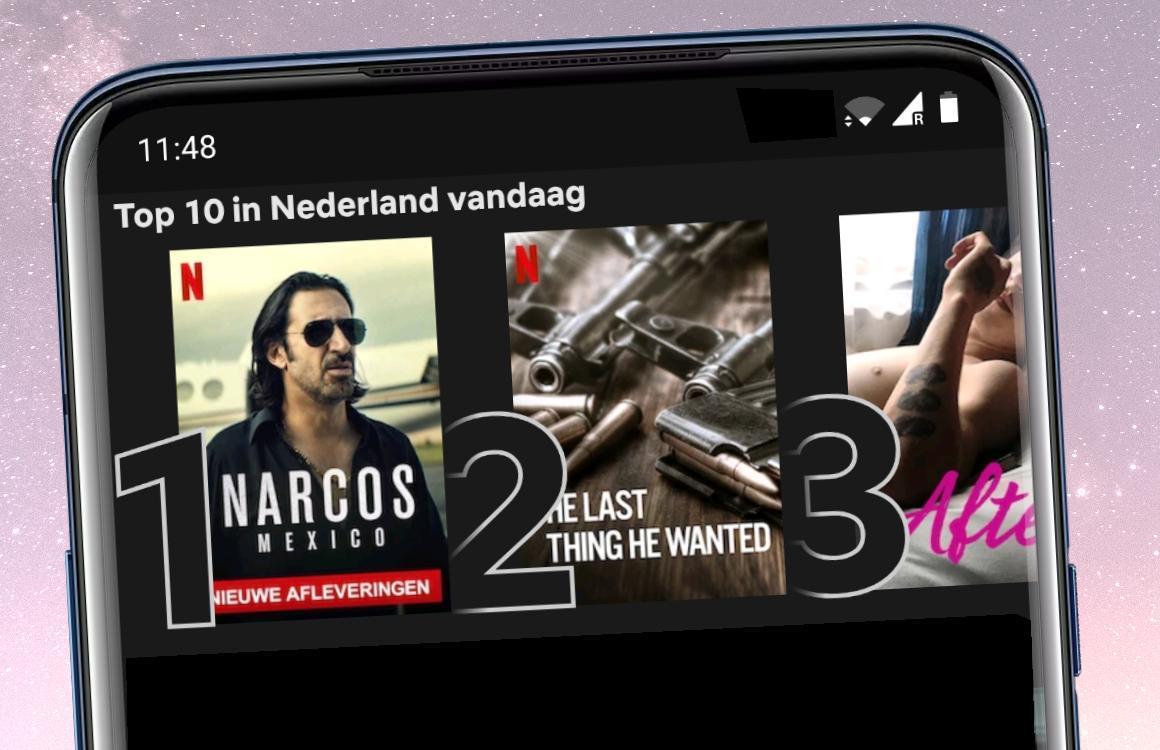 Netflix toont top 10-lijstjes met populairste series en films in Nederland