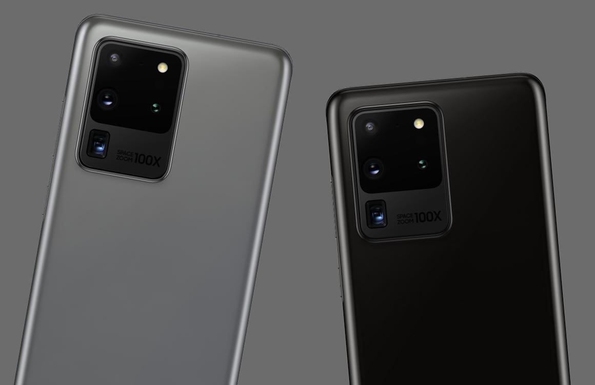 Foto's tonen Samsung Galaxy S20 Ultra met vier camera's en 100x zoom