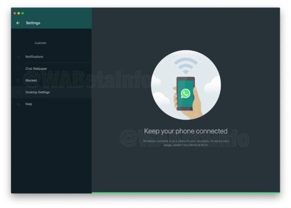 whatsapp web donkere modus