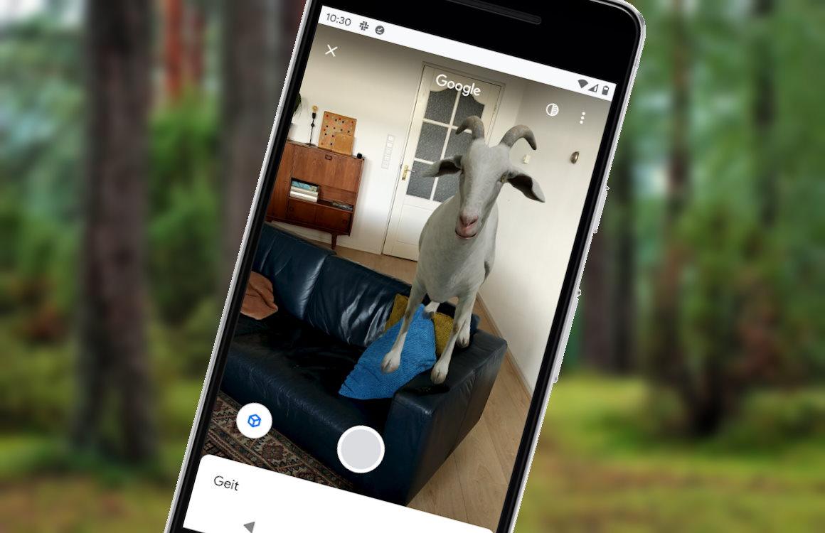 Augmented reality-zoekresultaten in Chrome toveren wilde dieren in je huis