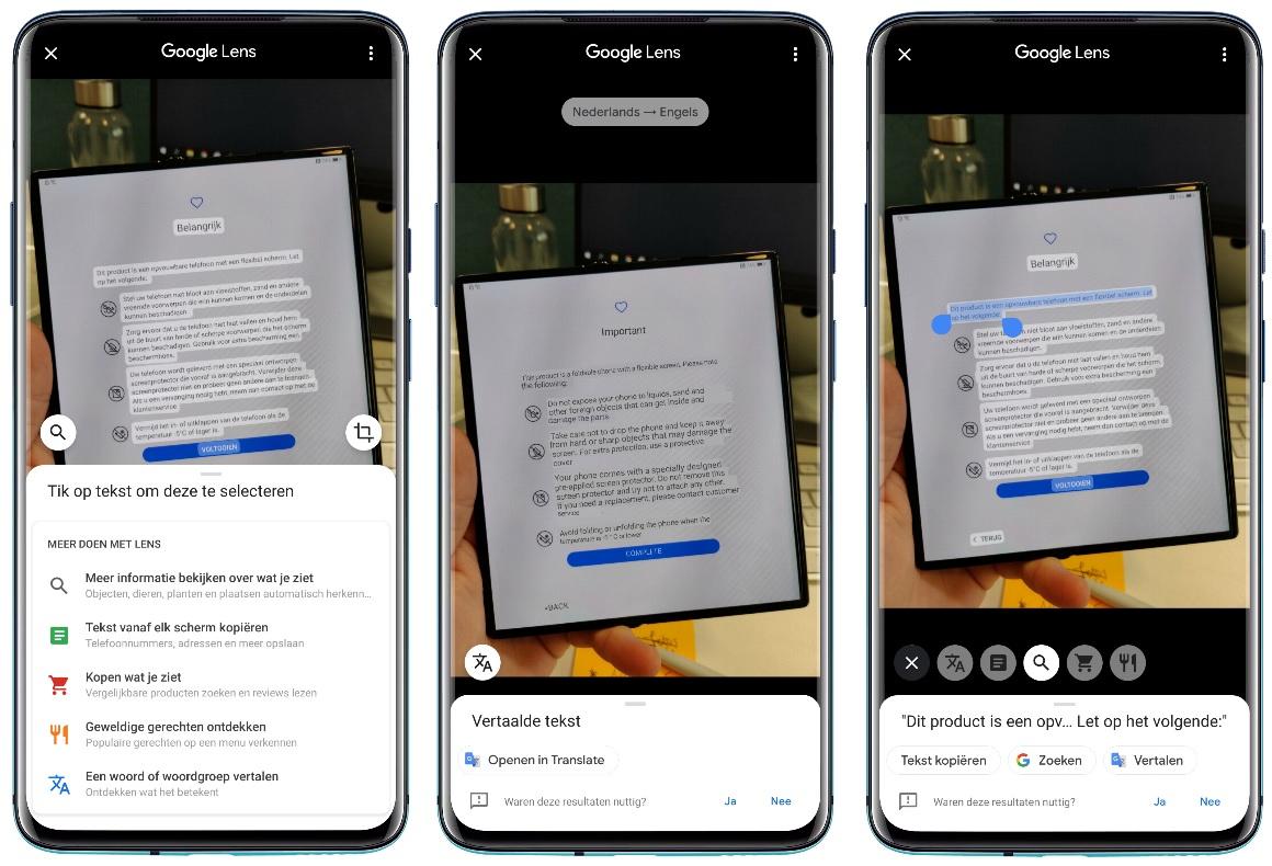 Google Foto's - tekst vertalen en kopiëren