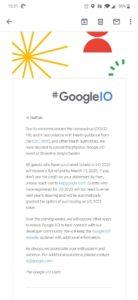 Google I/O-annulering