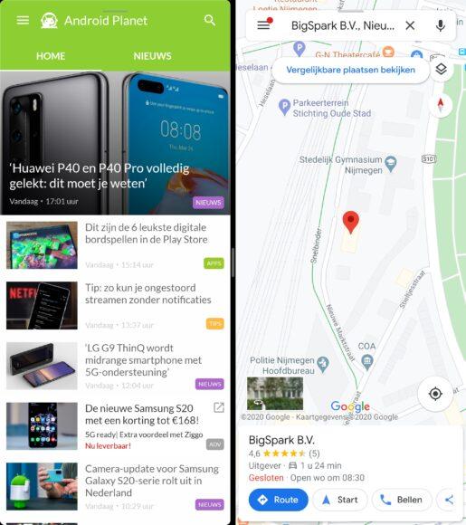 Huawei Mate Xs - multiwindow